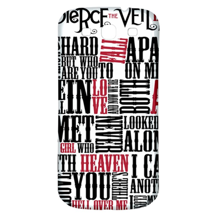 Pierce The Veil Hell Above Lyrics Poster Samsung Galaxy S3 S III Classic Hardshell Back Case