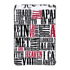 Pierce The Veil Hell Above Lyrics Poster Apple Ipad Mini Hardshell Case (compatible With Smart Cover) by Samandel