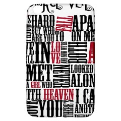 Pierce The Veil Hell Above Lyrics Poster Samsung Galaxy Tab 3 (8 ) T3100 Hardshell Case  by Samandel