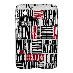 Pierce The Veil Hell Above Lyrics Poster Samsung Galaxy Tab 2 (7 ) P3100 Hardshell Case  by Samandel