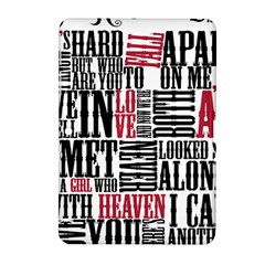 Pierce The Veil Hell Above Lyrics Poster Samsung Galaxy Tab 2 (10 1 ) P5100 Hardshell Case  by Samandel
