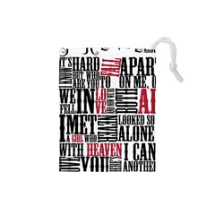 Pierce The Veil Hell Above Lyrics Poster Drawstring Pouches (small)  by Samandel