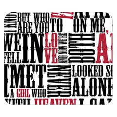 Pierce The Veil Hell Above Lyrics Poster Double Sided Flano Blanket (small)  by Samandel