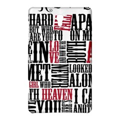 Pierce The Veil Hell Above Lyrics Poster Samsung Galaxy Tab S (8 4 ) Hardshell Case