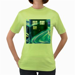 Tardis Space Women s Green T Shirt