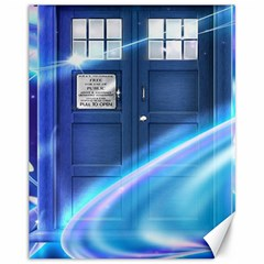 Tardis Space Canvas 11  X 14   by Samandel