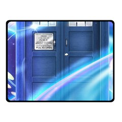 Tardis Space Fleece Blanket (small) by Samandel