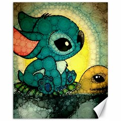 Stich And Turtle Canvas 11  X 14