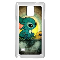 Stich And Turtle Samsung Galaxy Note 4 Case (white) by Samandel