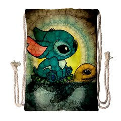 Stich And Turtle Drawstring Bag (large)