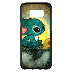 Stich And Turtle Samsung Galaxy S8 Plus Black Seamless Case