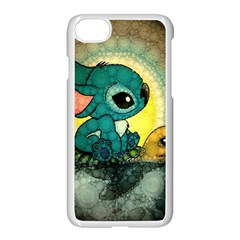 Stich And Turtle Apple Iphone 8 Seamless Case (white)