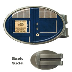 Tardis Poster Money Clips (oval)