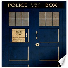 Tardis Poster Canvas 12  X 12   by Samandel