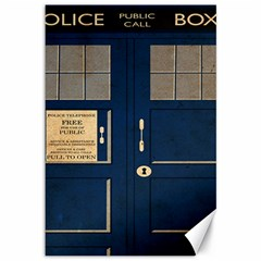Tardis Poster Canvas 12  X 18   by Samandel