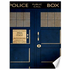 Tardis Poster Canvas 36  X 48   by Samandel