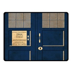 Tardis Poster Fleece Blanket (small) by Samandel