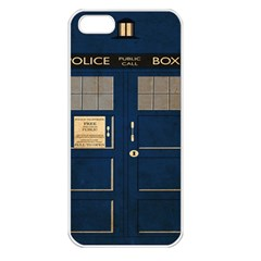 Tardis Poster Apple Iphone 5 Seamless Case (white) by Samandel