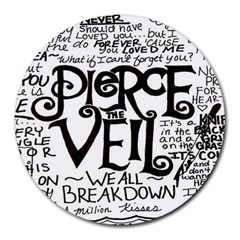 Pierce The Veil Round Mousepads by Samandel