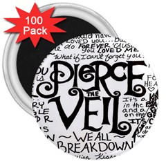 Pierce The Veil 3  Magnets (100 Pack) by Samandel