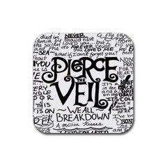 Pierce The Veil Rubber Square Coaster (4 Pack)  by Samandel