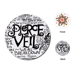 Pierce The Veil Playing Cards (round)  by Samandel