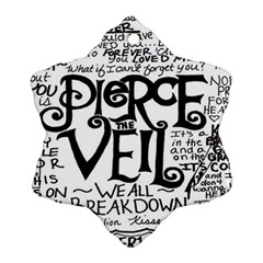 Pierce The Veil Snowflake Ornament (two Sides) by Samandel