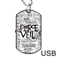 Pierce The Veil Dog Tag Usb Flash (one Side) by Samandel