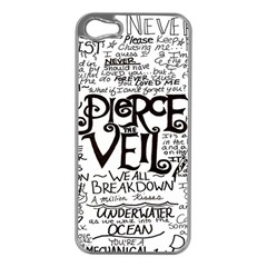 Pierce The Veil Apple Iphone 5 Case (silver) by Samandel