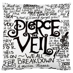 Pierce The Veil Large Flano Cushion Case (one Side) by Samandel