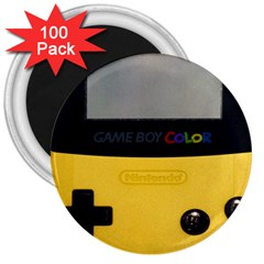 Game Boy Color Yellow 3  Magnets (100 Pack)