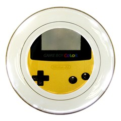 Game Boy Color Yellow Porcelain Plates by Samandel