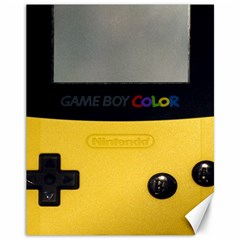 Game Boy Color Yellow Canvas 11  X 14