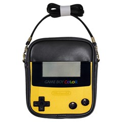 Game Boy Color Yellow Girls Sling Bags