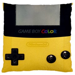 Game Boy Color Yellow Large Cushion Case (two Sides) by Samandel