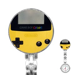 Game Boy Color Yellow Stainless Steel Nurses Watch