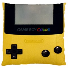 Game Boy Color Yellow Standard Flano Cushion Case (two Sides) by Samandel