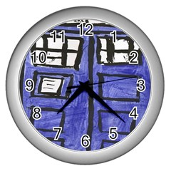 Tardis Painting Wall Clocks (silver)