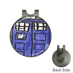 Tardis Painting Hat Clips With Golf Markers by Samandel