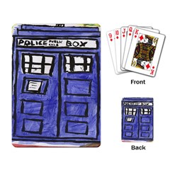 Tardis Painting Playing Card by Samandel