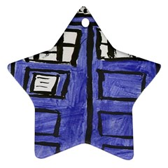 Tardis Painting Star Ornament (two Sides)