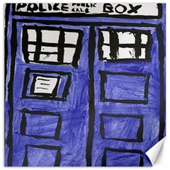 Tardis Painting Canvas 16  X 16   by Samandel