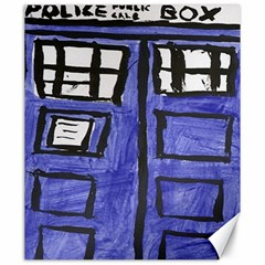 Tardis Painting Canvas 20  X 24   by Samandel