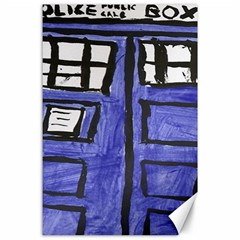 Tardis Painting Canvas 24  X 36  by Samandel