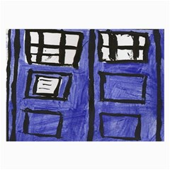 Tardis Painting Large Glasses Cloth (2 Side) by Samandel