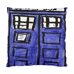 Tardis Painting Standard Cushion Case (two Sides) by Samandel