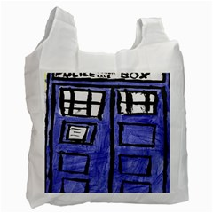 Tardis Painting Recycle Bag (one Side) by Samandel
