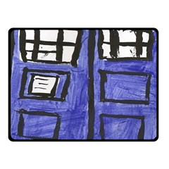 Tardis Painting Fleece Blanket (small) by Samandel