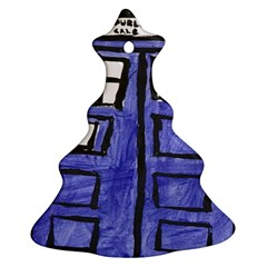 Tardis Painting Ornament (christmas Tree)
