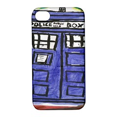 Tardis Painting Apple Iphone 4/4s Hardshell Case With Stand